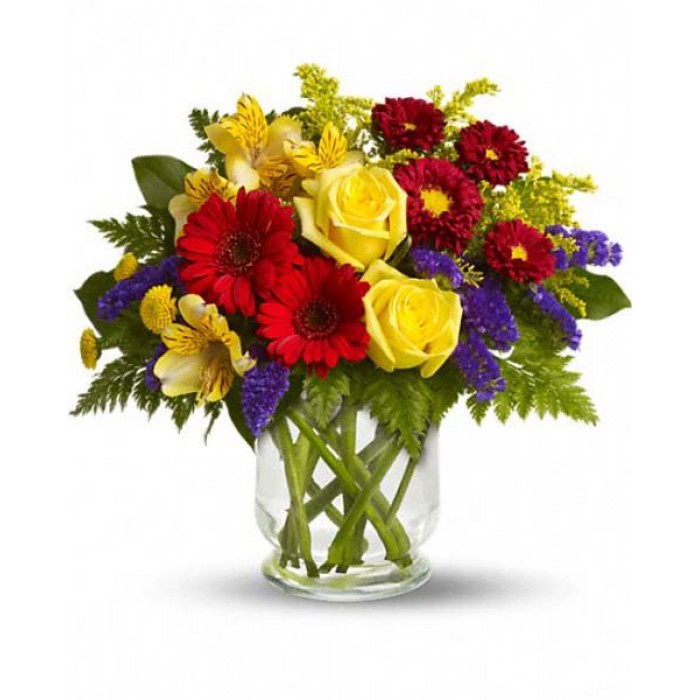 Mixed Cut Flowers : Bouquet of spring flowers