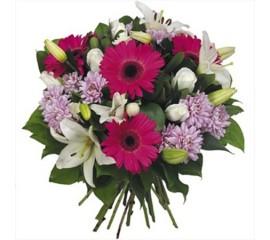 Buchet crini ,gerbera ,crizantema