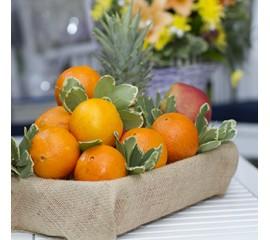 Cos cu fructe Ananas ,portocale si mere