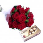 Trandafiri cu Ferrero rocher