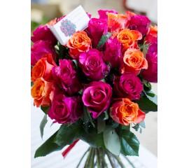 Buchet 25 trandafiri superbi